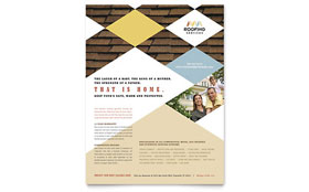 Roofing Contractor - Flyer Design Template