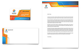 Construction Business Marketing - Business Card & Letterhead Template