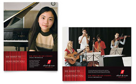 Music School - Poster Template