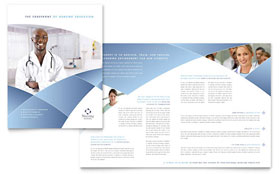 Nursing School Hospital - Brochure Design Template