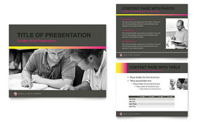 Adult Education & Business School - PowerPoint Presentation Design Template