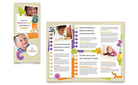 Kindergarten - Tri Fold Brochure Design Template