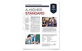High School - Flyer Design Template
