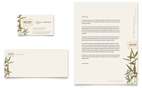 Asian Restaurant - Business Card & Letterhead Template