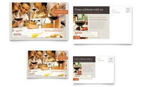 Bistro & Bar - Postcard Design Template