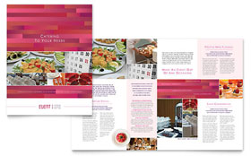 Corporate Event Planner & Caterer - Brochure Design Template