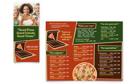Pizza Pizzeria Restaurant - Take-out Brochure Design Template