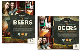 Brewery & Brew Pub - Poster Design Template