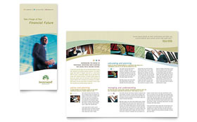 Investment Management - Tri Fold Brochure Design Template