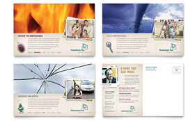 Life Insurance Company - Postcard Design Template
