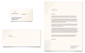 CPA & Tax Accountant - Business Card & Letterhead Design Template