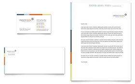 Private Bank - Business Card & Letterhead Design Template