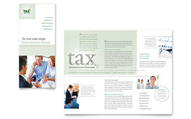 Accounting & Tax Services - Tri Fold Brochure Template