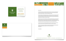 Veterinarian Clinic - Business Card & Letterhead Design Template