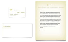 Attorney & Legal Services - Business Card & Letterhead Design Template