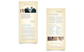Attorney & Legal Services - Rack Card Design Template