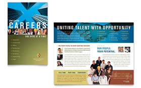 Employment Agency & Jobs Fair - Brochure Template