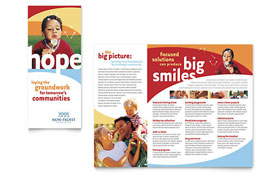 Community Non Profit - Brochure Design Template