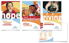 Community Non Profit - Postcard Design Template