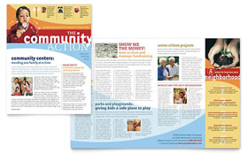Community Non Profit - Newsletter Design Template