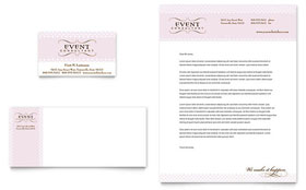 Wedding & Event Planning - Business Card & Letterhead Design Template
