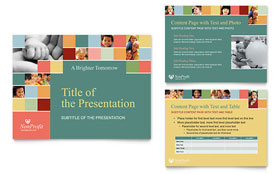 Non Profit Association for Children - PowerPoint Presentation Design Template