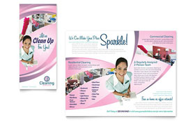 House Cleaning & Maid Services - Brochure Template