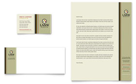 Lawyer & Law Firm - Business Card & Letterhead Template