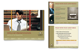 Lawyer & Law Firm - PowerPoint Presentation Template
