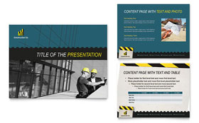 Industrial & Commercial Construction - PowerPoint Presentation Design Template