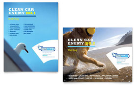 Car Cleaning - Poster Design Template