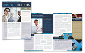 Small Business Consulting - Newsletter Design Template