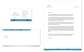 Small Business Consulting - Business Card & Letterhead Design Template