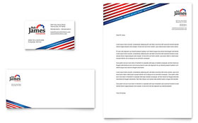 Political Campaign - Business Card & Letterhead Template