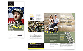 Government & Public Safety Business Marketing - Brochure Template