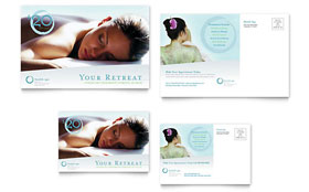 Day Spa & Resort - Postcard Template