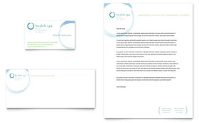Day Spa & Resort - Business Card & Letterhead Template