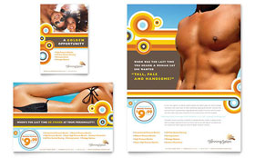 Tanning Salon - Flyer & Ad Design Template