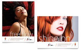 Hair Stylist & Salon - Poster Design Template