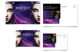 Makeup Artist - Postcard Design Template