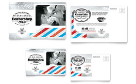 Barbershop - Postcard Template