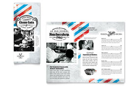 Barbershop - Tri Fold Brochure Design Template