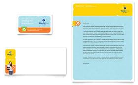 Weight Loss Clinic - Business Card & Letterhead Template
