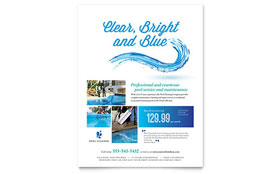 Pool Service - Flyer Design Template