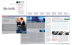 Legal & Government Services - Newsletter Design Template