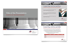 Legal & Government Services - PowerPoint Presentation Design Template