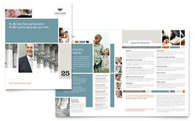 Family Law Attorneys - Brochure Design Template