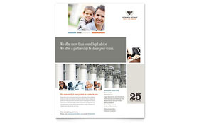 Family Law Attorneys - Flyer Design Template