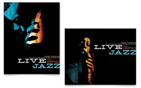 Jazz Music Event - Poster Design Template