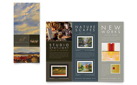 Art Gallery & Artist - Tri Fold Brochure Design Template